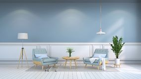 Minimalist inre rum, samtidan furniture/3d framför Arkivfoto