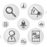 Minimalist interface icons Royalty Free Stock Image