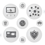 Minimalist interface icons Stock Images