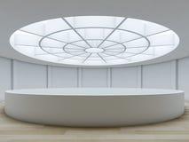 Minimalist interior with atrium. Royalty Free Stock Images