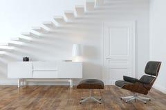 Minimalist Interior Room With Lounge Chair Stock Photo