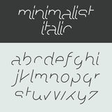Minimalist italic alphabet Stock Photos