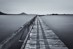 Minimalist of jetty at lake taupo Royalty Free Stock Image