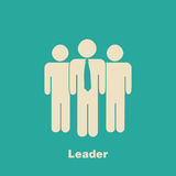Minimalist Leader Concept Royalty Free Stock Images