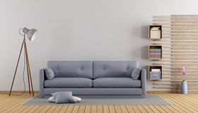 Minimalist lilac living room Royalty Free Stock Photography