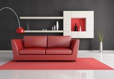 Minimalist living room Stock Images