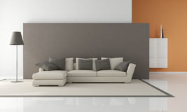 Minimalist living room Stock Images