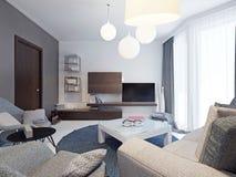 Minimalist living room interior Royalty Free Stock Photo