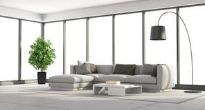 Minimalist living room stock illustration