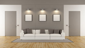 Minimalist living room Royalty Free Stock Photography