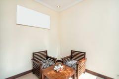 Minimalist living room villa hotel Stock Images