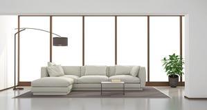 Minimalist living room Stock Image
