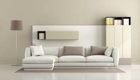 Minimalist living room Royalty Free Stock Image