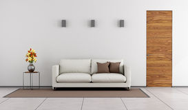 Minimalist living room Royalty Free Stock Images