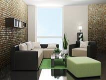 Minimalist livingroom Stock Images