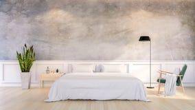 Modern  Loft Design of Bedroom Interior Royalty Free Stock Photos