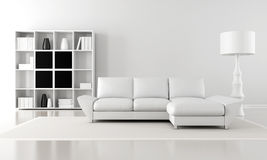 Minimalist lounge Royalty Free Stock Photos