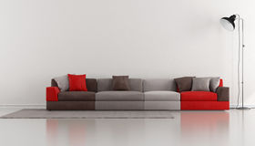Minimalist lounge with colorful modern Stock Images
