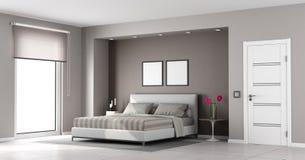 Minimalist master bedroom Stock Image