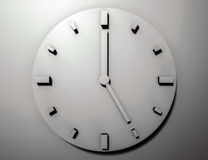 Minimalist metal clock, 3d rendered Stock Images