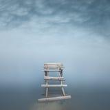 Minimalist misty landscape Stock Images