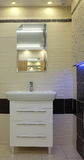 Minimalist modern bathroom Stock Photo