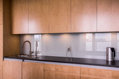 Minimalist modern kitchen Stock Photography