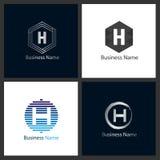 Letter H Logo Design Set vector illustration