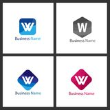 Letter W Logo Set vector illustration