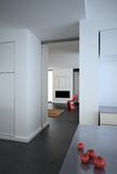 minimalist modern white för loft Fotografering för Bildbyråer