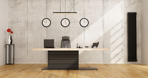 Minimalist office with modern desk Royalty Free Stock Images