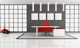 Minimalist office space Stock Image