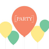 Minimalist Party Card Design Stock Photo