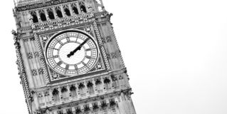 Minimalist photo of Big Ben in London royalty free stock photo