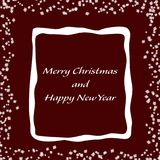 Minimalist Christmas card with snowflakes. Minimalist red Christmas card with snowflakes Royalty Free Stock Image
