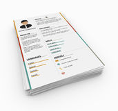 Minimalist resume Royalty Free Stock Images