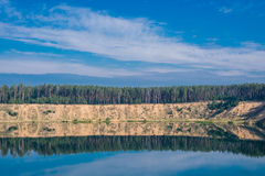 Minimalist River landscape Royalty Free Stock Images