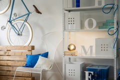 Minimalist room decorations Royalty Free Stock Images