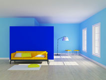 Minimalist room interior stock photos