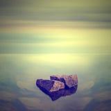 Minimalist Seascape. Arkivfoton