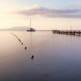 Minimalist Seascape. Coastal Sunrise. Royalty Free Stock Photos