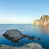 Minimalist Seascape Kust- soluppgång Royaltyfri Fotografi