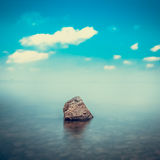Minimalist seascape. Royalty Free Stock Photo