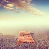 Minimalist seascape. Royalty Free Stock Image