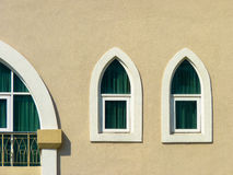 Minimalist shot of a window. Window in the shape of a boat Royalty Free Stock Photos