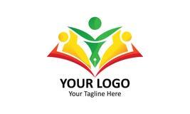 Minimalist simple square logo for school Stock Photo