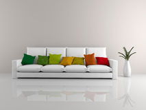 Minimalist sofa white Royalty Free Stock Photos