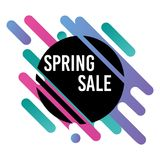 Minimalist spring sale banner with modern aspect Royalty Free Stock Images