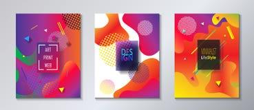 Minimalist stil för abstrakt uppsättning för broschyrräkningsmall Arkivbilder