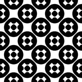 Minimalist texture with crosses & circles. Vector monochrome seamless pattern, simple minimalist texture with crosses & circles, smooth black & white repeat Stock Illustration